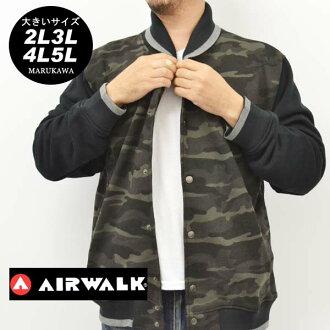 大的尺寸人套衫僞裝色花紋AIRWALK