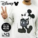 大きいサイズ メンズ Tシャツ 長袖 Disney【キングサイズ 2L 3L 4L 5L マルカワ ディズニー ミッキー Mickey Mouse マウス プリント キャラクター】