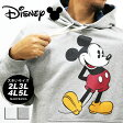 大きいサイズ メンズ スウェット プルオーバー パーカー Disney ミッキー【キングサイズ 2L 3L 4L 5L マルカワ ディズニー Mickey Mouse マウス スエット 裏起毛 プル フード ブランド】