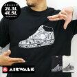 大きいサイズ メンズ Tシャツ 長袖 AIRWALK【キングサイズ 2L 3L 4L 5L マルカワ エアウォーク ブランド シューズ 靴 プリント 重ね着 レイヤード ストリート】