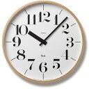 レムノス 壁掛け時計 RIKI CLOCK(Lサイズ・太字)【送料無料】【在庫あり】【あす楽対応】