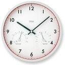 レムノス 電波時計+温湿時計 Air clock【楽ギフ_包装】【メーカー取寄せ】 【送料無料】