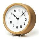 レムノス 置き時計 MIKI(ミキ)ケヤキの時計 置時計 木製 おしゃれ 北欧 アナログ 【送料無料】【楽ギフ_包装】