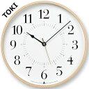 レムノス 掛け時計 電波時計 TOKI(トキ) 【AWA CLOCK】 壁掛け時計 掛時計 電波【楽ギフ_包装】