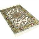 ペルシャ絨毯 & ギャベ (ギャッベ) キリム series じゅうたん 手織り 高級 玄関マット ラグ シルク 緞通 室内用 送料無料 #020 約 62×…
