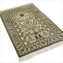 ペルシャ絨毯 & ギャベ (ギャッベ) キリム series じゅうたん 手織り 高級 玄関マット ラグ シルク 緞通 室内用 送料無料 #008 約 76×…