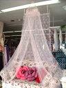女の子の憧れ♪ビジュースリーピングカーテン(天蓋カーテン)【ピンク】 ※定形外可400円