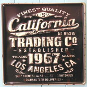 アンティークなカフェ風ブリキの看板!デザインボードメタル M【カリフォルニア】 ※定形外可400円