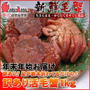 年末年始先行予約 ギフトセット 北海道産 訳あり活毛がに1kg お得なカニ福袋