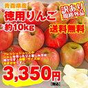 【 りんご 】【送料無料】【訳アリ】青森産 りんご 約10k...
