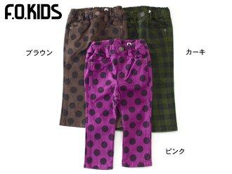 F.O.KIDS 2 무늬 스트레이트 팬츠. R421093.4009034