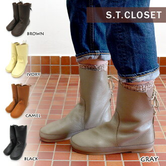 S.T.CLOSET lace-up short boots ■ E40912-06 ■ 70903 _
