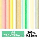【期間限定クーポン配布中 ポイント5倍】厚紙カラーペーパー『ケンラン 265Kg( 0.35mm)』 A4(210×297mm) 20枚【印刷 工作 名刺 カード 紙飛行機 ペーパークラフト】