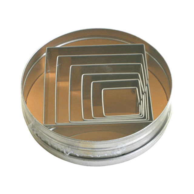 120-04クッキーカッター(正方形)25mm(6ヶ入)【抜き型】【アイシング】