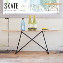 スケートボードテーブル スケボー スケーター サイドテーブル ローテーブル スケートデッキテーブル ラック 木製 約幅117cm 西海岸風 カリフォルニアスタイル ビーチスタイル ヴィンテージ 男前 シンプル クール かっこいい 塩系【送料無料】 d