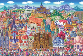 ★ huge collection of world heritage sites! -Jigsaw 1000 P, illustrations, Tanaka Naoki works