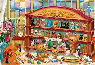 ★My collection, 1000P jigsaw puzzle illustration her tea raise of wages
