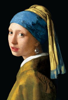 ★ girl with a Pearl Earring, micro 1000 P jigsaw puzzles, painting and Vermeer interior art