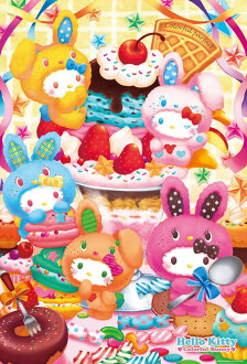 ★Colorful parfait, 1000P jigsaw puzzle illustration hello kitty interior, interesting miscellaneous goods