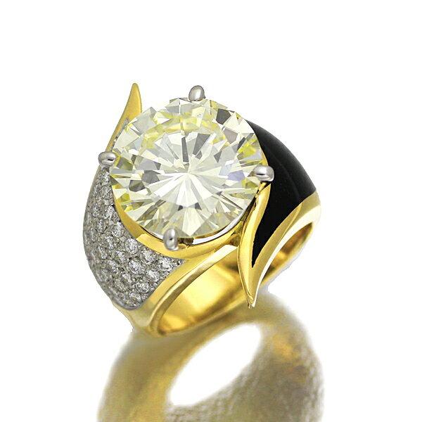 K18YG プラチナ ダイヤモンド リング 10号 D7.629ct/0.35ct ソーティング