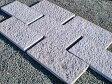 敷石 板石 白御影石 みかげいし 表面ノミ切り他切削5面