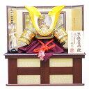 五月人形 龍玉 着用兜収納飾り 武光作 立体大鍬形 着用兜 30号 焦茶収納飾り 金屏風