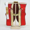 陣羽織 赤 (はちまき・木製スタンド付き)【五月人形・こいのぼり】陣羽織を着て記念撮影♪ 【RCP】