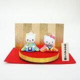 雛人形 吉徳 コンパクト キャラ雛 吉徳 サンリオ ハローキティ 丸台雛 親王飾り 雛人形 HNY-183-016 (183016)ひな人形 ひな人形 小さい