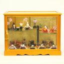 雛人形 リュウコドウ ちりめん雛 ちりめん雛人形 わらべ雛 10人揃い ケース飾り お道具セット付き 雛人形 HNRK-1-344-87ひな人形 コンパクト [...