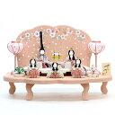 雛人形 一秀 コンパクト 木目込み飾り さくらさくら 五人飾り 1号 雛人形 HNIS-C-118 (346057)ひな人形 かわいい 雛 木目込人形飾り ひ..