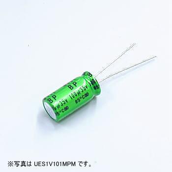 ニチコン アルミ電解コンデンサー(オーディオ用両極性品)35V 22μF 【UES1V220MPM】