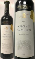 世界中のコンテストに出れば全て金賞と言わしめたモンスターワイン!ラベルのメダルが凄い! (希少・オールドヴィンテージ) ローズマウント カベルネ ソーヴニヨン ショーリザーブ 2001 (オーストラリア クナハラ産・フルボディ) 750ml 赤ワイン
