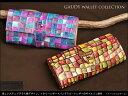 【送料無料】【FU-SI FERNALLE/ フーシフェルナーレ】 GAUDY wallet collection :美しいステンドグラス風デザイン。イタリーレザー×バングラゴートレザーのギャルソン財