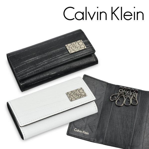 カルバンクライン キーケース Calvin Klein 4連キーケース 送料無料 プレッソ 小銭入れあり 牛革 本革 メンズ レディース 正規品 新品 ブランド 2015年 ギフト プレゼント 832609