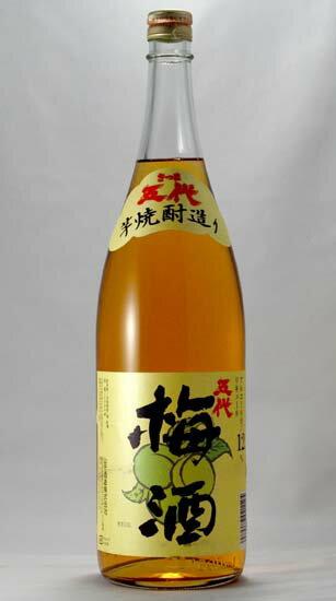 【山元酒造】 芋焼酎造り 五代梅酒 1.8L