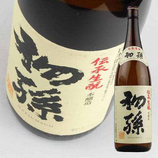 【東北銘醸】 初孫 伝承生もと 本醸造 1.8L 【本醸造】 [J344]