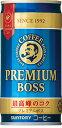 【缶コーヒー】サントリー BOSS《ボス》 プレミアムボス 190g  缶 1ケース《30本入》《1配送あたり最大4ケースまで同梱OK!》