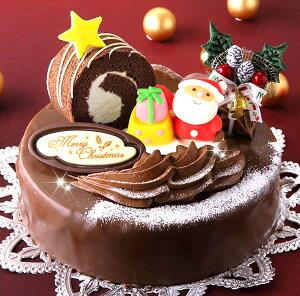 ロールノセタ(6号サイズ) 18cmのチョコレートケーキ 【クリスマスケーキ 2017】【送料300円】※四国・中国・九州は送料800円、沖縄は配送不可【予約】【限定】【人気】
