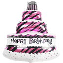 ★誕生日ケーキ バルーン 風船 プレゼント 【ピンク】 誕生日 ケーキ 1歳 プレゼント 誕生会 演出 部屋 飾り 飾りつけ 飾り付け バルーンギフト Happy Birthday ハッピー バースデー ふうせん パーティー グッズ デコレーション