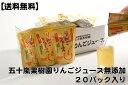 【送料無料】五十嵐果樹園りんごジュース 無添加【20パック入り】