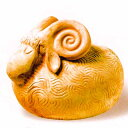 イタリア製テラコッタ ガーデンオーナメント 羊の父さん オブジェ Galestro Cod.25 400 素焼き 置物