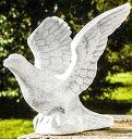 イタリア製動物像(ガーデン オーナメント) 飛び立つハト ITALGARDEN Cod.07 3935 石像 イタルガーデン社