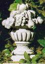 イタリア製石像(ガーデン オーナメント) フルーツ飾り(小) ITALGARDEN TE0362 ガーデンアクセサリー イタルガーデン社