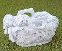 イタリア製動物像(ガーデン オーナメント) バスケットいぬ DECOR GARDEN TE0460 置物 オブジェ デコールガーデン社
