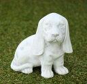 イタリア製動物像(ガーデン オーナメント) バセット TE5760 置物 オブジェ 犬の石像
