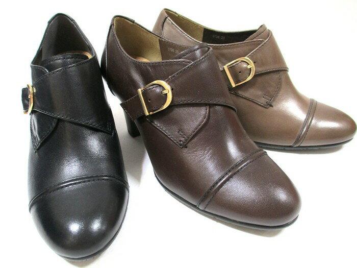 【履くほどに愛着が湧く、手放せない1足になりそう。】[イング]ING ing 0726 レディース 天然皮革 ヒール パンプス 甲ベルト 通勤靴 仕事靴 ブラック・ダークブラウン・グレー(ブラウン系)