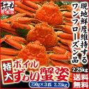 特大茹でずわい蟹/姿3尾入り(かに/カニ/蟹/ずわい/ズワイ)