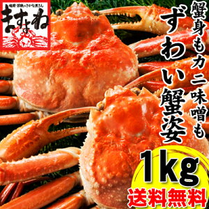 茹で本ずわい蟹/姿 2匹1kg (2-3人前)[送料無料][かに/カニ/蟹/ずわい/ズワイ]【楽ギフ_のし】