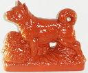 常滑焼 戌宝袋(朱)【C-17】2018年 平成30年 戌 犬 いぬ年人形 置物 縁起物 正月飾り 迎春飾り 干支飾り ギフト 贈リ物 祝 お祝い 記念品