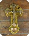 ショッピング壁掛け 【送料無料】アメリカより入荷した古い壁掛けの十字架